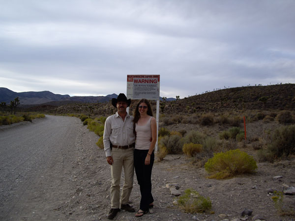 Beth and I at AREA 51 NEVADA